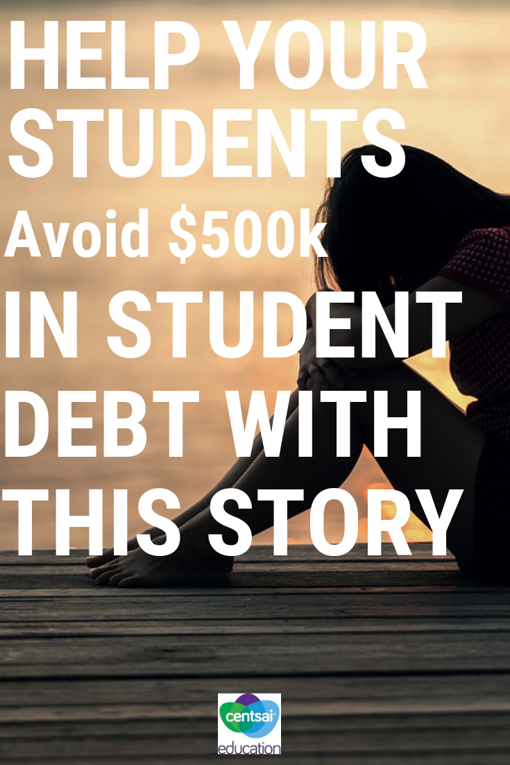 One woman's story of how she got herself into debt that she might never be able to repay. A cautionary tale for your students.