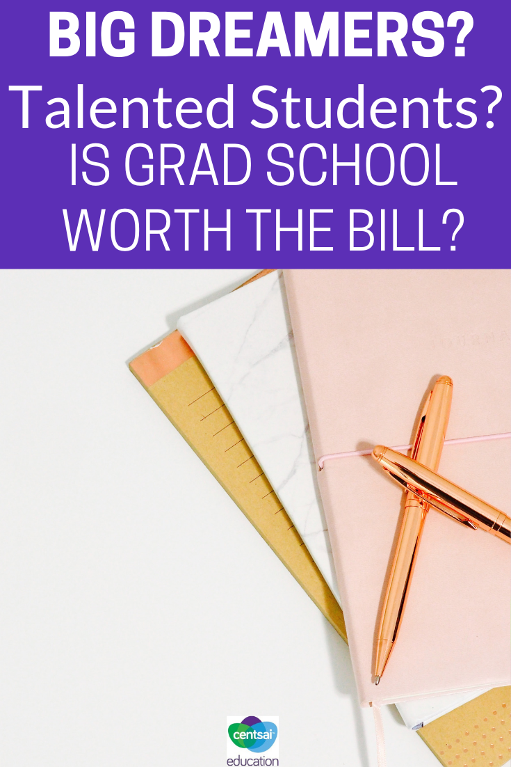 Grad School may be a ways off, but it's a crucial part of some student's education plan. Let's start talking about whether or not it's worth the bill.