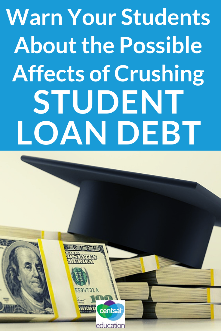 High school students need to understand the mental affects of huge debt and the reasons why they should do their best to avoid student loans whenever possible.