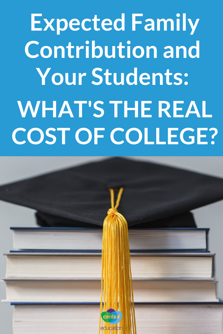Proactive planning and research of your Expected Family Contribution can help your students prepare for paying back student loans.
