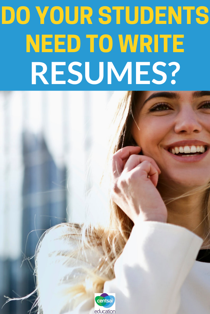 Checkout this article to help decide if your class should have resumes. Be sure to pass this along to your students today!
