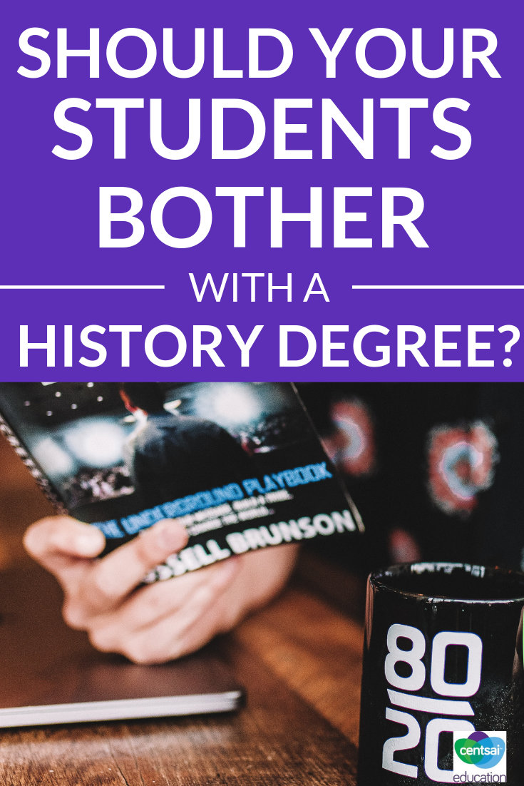 This story will show your students why getting a history degree, or a degree in another field, might lead them to unique and unexpected career opportunities.