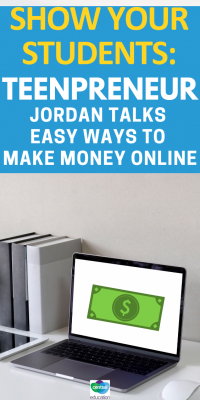 Join #teenageentrepreneur Jordan Cox as he shares three easy ways to #makemoneyonline for beginners.