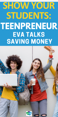 Join #teenageentrepreneur Eva Baker as she shares some thoughts about #savingmoney — this will benefit your class hugely! #incollege #frugalliving #inyour20s