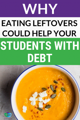 Show your #students how one person paid off over $25k of studentdebt by eating leftover food. #savingtips #savingmoneytips #frugaltips