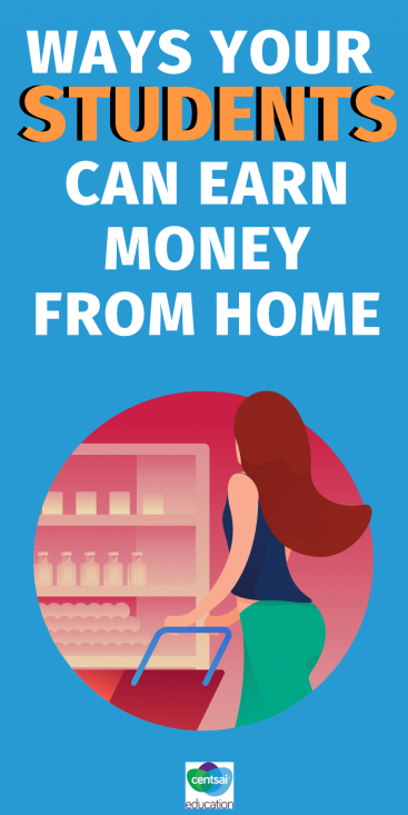 This is a great list of ways your students (or you!) can work from home and earn some extra cash. #CentSaiEducation #makemoremoney #sidehustletips #makemoremoneytips
