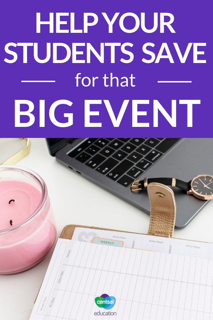Prom, Senior Trip, Graduation. Teach your students how to save up for the next big thing coming up with this savings plan.
