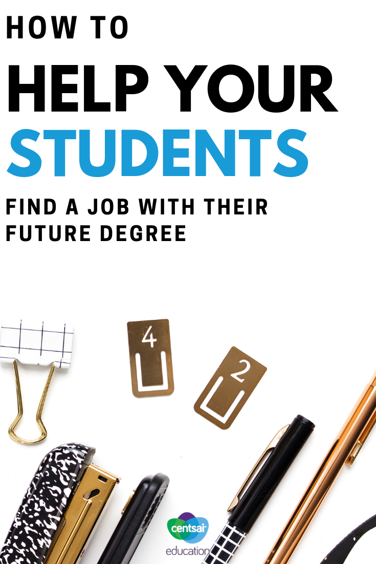 Make sure your students' hard work pays off and help them get their dream job with these tips on choosing a degree.