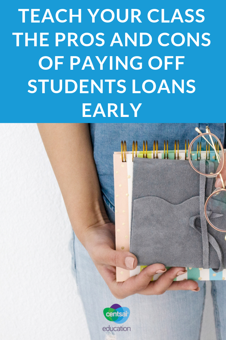 If your high school students are considering taking out student loans they need to understand the pros and cons.