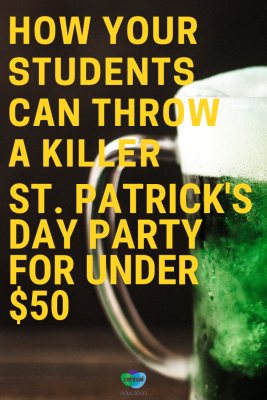 Fun and frugal can go together. Share these great ideas with your students for keeping party costs down.