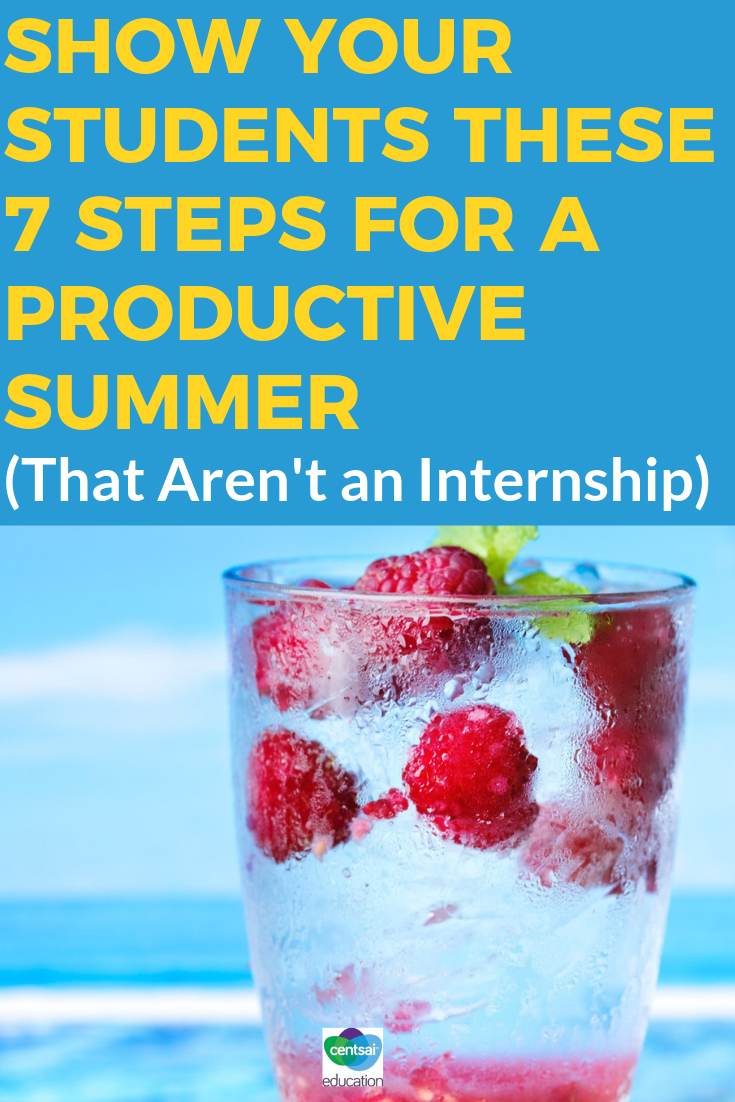 Even if your students don't have an internship this summer, you can still show them how to develop themselves professionally while earning some extra cash.