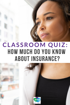 For those students who don't already know about insurance, it can be difficult to know which way is up. Find out how much your classroom knows. #healthinsurance #personafinance #Lifeinsurancefacts #lifeinsurance