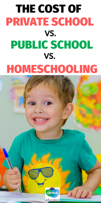 Compare the cost of private school vs. public school vs. homeschoolin so that you can make the best choice for your family. How can you assess the cost of a primary-school education in the context of the benefits provided? Here's how we broke it down. #School #Tips #hacks #CentSaiEducation #budgeting