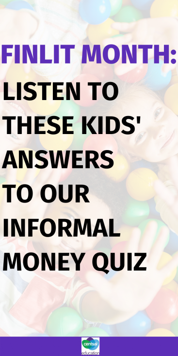 I watch this video about kids and money, and what I love most about these children is their willingness to learn, their vibrancy, and their sense of humor. Check out this video! #CentSaiEducation #savingmoney #moneysavingtips #personalfinance #kidsnadmoney