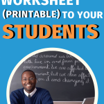 Give your students the tools to learn all about the world of careers. This free downloadable and printable worksheet gives them all the questions they'll need. #CentSaiEducation #students #careertips #worksheet