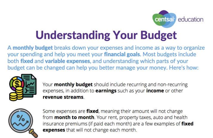 Worksheet: Understanding Your Budget